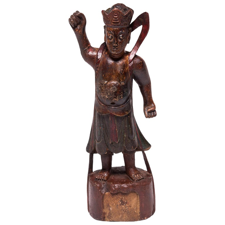 19th Century Chinese Polychrome Altar Spirit