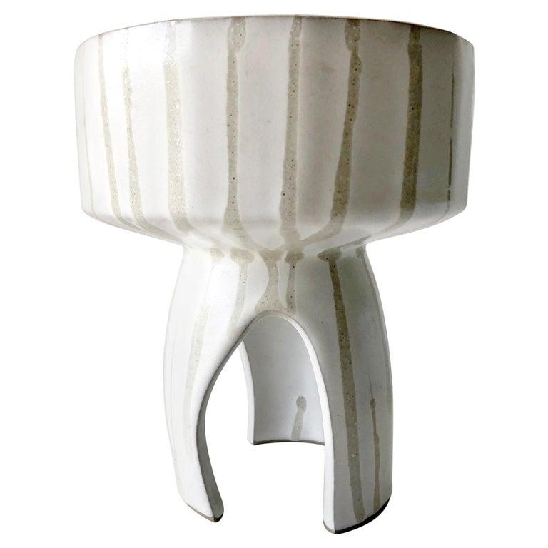 Japanese Modernist Ceramic Ikebana Vase