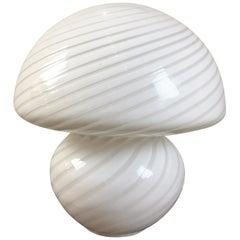 Gino Vistosi Murano Swirled Pattern Glass Lamp