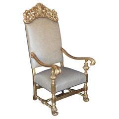 19th Century Throne Chair