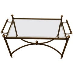 Classic Brass and Glass Coffee Table by La Barge