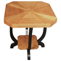 Pair of Octagonal Side Tables, Belgium, Midcentury
