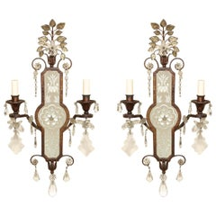 Cast Iron Twin Light Sconces