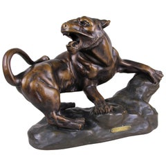 Lioness Sculpture Art Deco by R. Capaldo, France, circa 1930