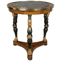 Charles X Walnut Gueridon or Centre Table