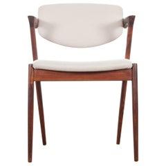 Midcentury Danish Set of 8 Kai Kristiansen Rosewood Chairs, Model 42