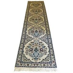 Vintage Persian Tabriz Runner Rug Signed