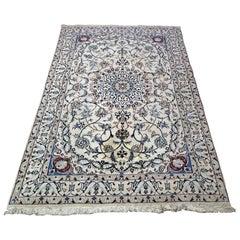 Vintage Persian Tabriz Area Rug Medium Size