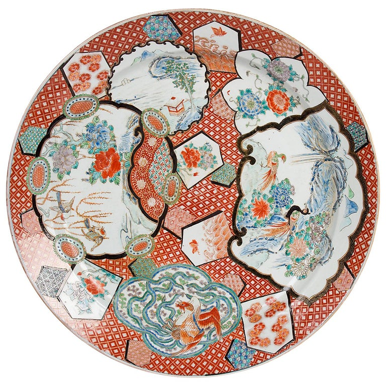 Large Japanese Imari Charger, 19th Century For Sale