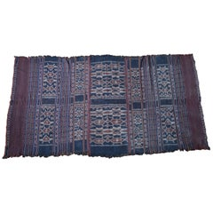Fine Rare Antique Indonesian Ikat Cloth Sulawesi