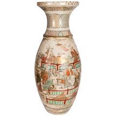 Meiji Period Satsuma Vase, circa 1900
