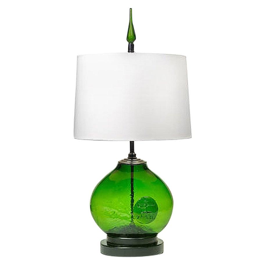 Art Glass Table Lamp by Wayne Husted for Blenko