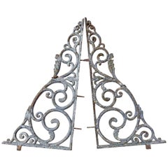 Cast Iron Decorative Brackets, circa 1900