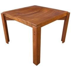 Jens Quistgaard Attributed Solid Teak End Table w/Reversible Butcher Block Top