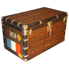 1930s Stenciled Monogram Louis Vuitton Trunk, Malle Louis Vuitton