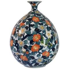 Contemporary Large Decorative Imari Porcelain Vase by Japanese Master Artist