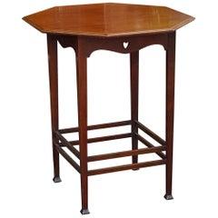 Art Nouveau Mahogany Side Table