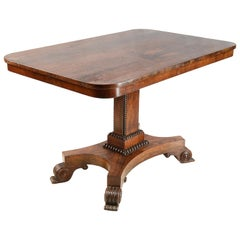 Regency Period Rosewood Center Table
