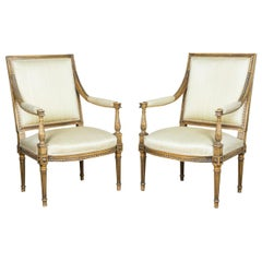 Two Armchairs in the Louis XVI Style, circa 1930