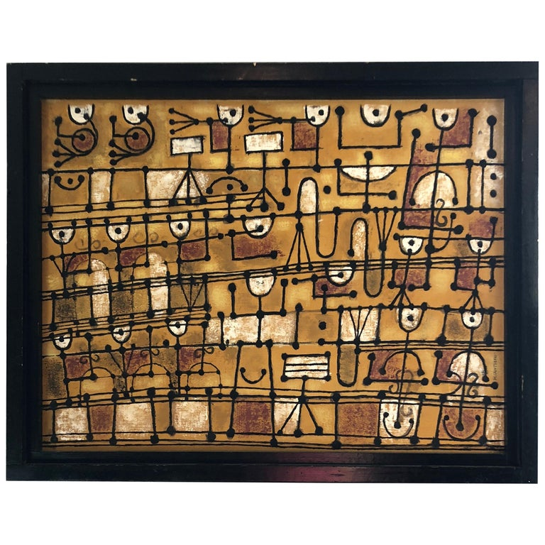 Marvelous Music Motife Painting by Listed Artist Margaret Balzer Cantieni