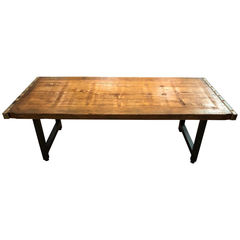 Rustic Industrial Belgian Pallet Coffee Table For Sale