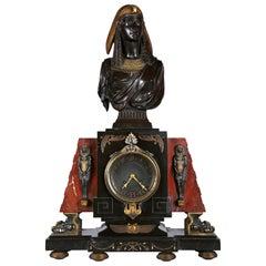 Neo-Egyptian Clock by E. Hébert and G. Servant