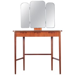 Mid Modern Scandinavian Vanity Dressing Table by Carl Malmsten