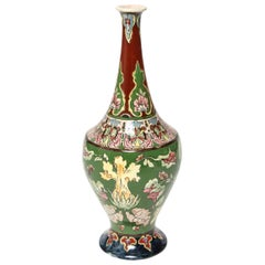 Art Nouveau Franz Anton Mehlem for Royal Bonn 'Old Dutch' Vase