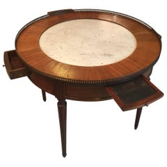 Late 19th Century French Bouillotte Table with Marble Top, 1920