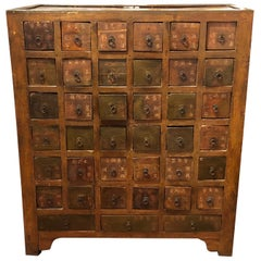 Oozing with Character Superb Antique Chinese Apothecary Cabinet