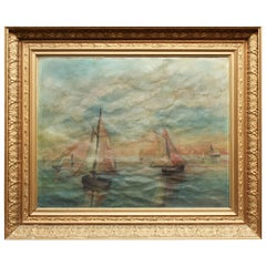 Impressionist Style Seascape Oil On Canvas Painting