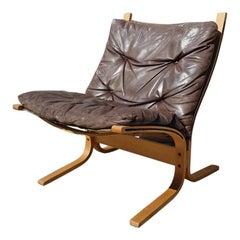 Norwegischer Braunes Leder Siesta Stuhl von Ingmar Relling, circa 1960