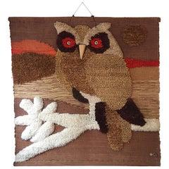 Don Freedman Woven Owl Tapestry