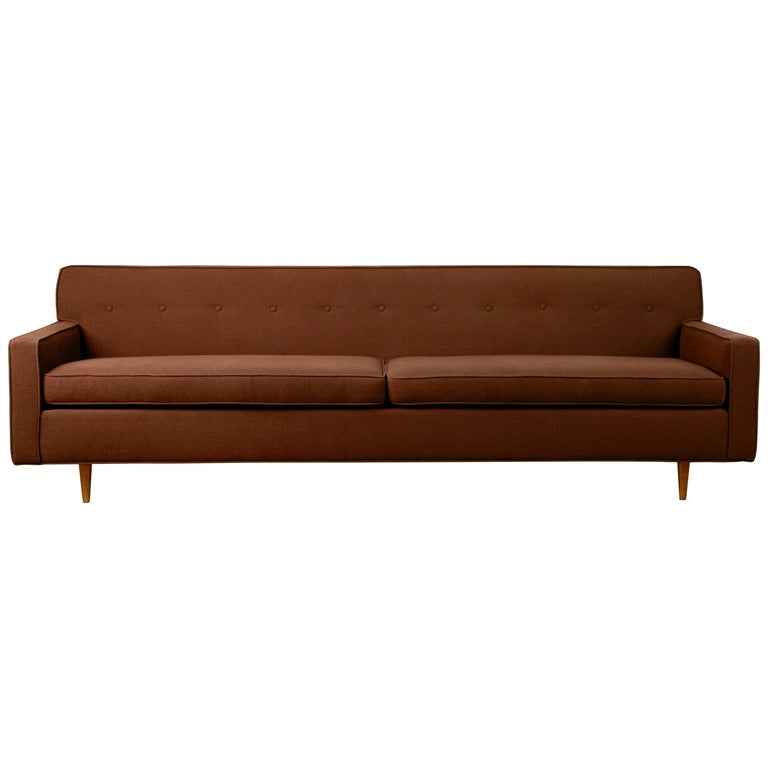 Edward Wormley for Dunbar Mid-Century Modern Tufted Sofa, circa 1960
