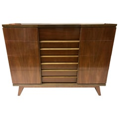 Mid-Century Modern Swedish Mobelfabrik Vanity Chest Dresser Chest of Drawers