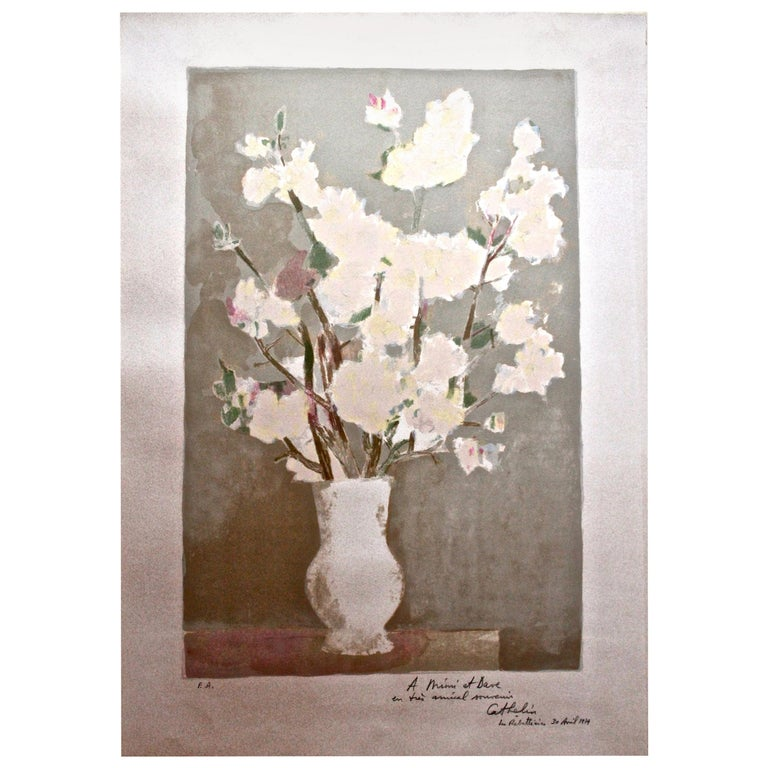 Bernard Cathelin Vase of Flowers Lithograph