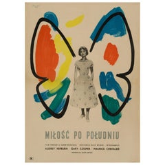 'Love in the Afternoon' Polish Film Poster, 1959