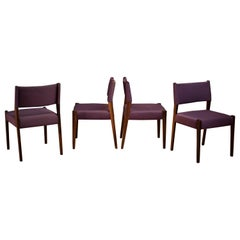 Vintage Set of Four Rosewood Dining Chairs by Sergio Rodrigues