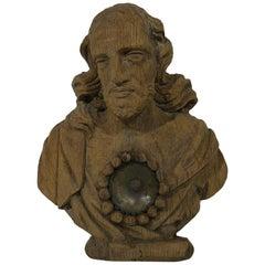 Französisches 17.-18. Jahrhundert, Geschnitzte Hölzerne Reliquiare Büste