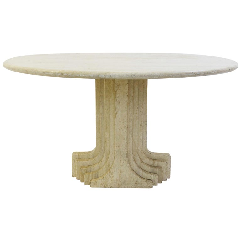 Round Dining Table by Carlo Scarpa, Italy, 1970s