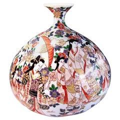 Japanese Large Gilded Imari Porcelain Vase by Contemporary Master Artist