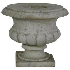 Englisches 19. Jahrhundert, Weißer Marmor Gartenurne