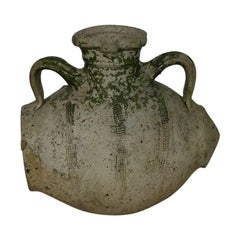 Rare French 18th Century Glazed Terracotta Water Jug / Cruche