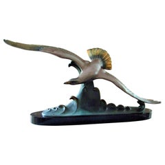 Art Deco Sculpture Seagull by Carvin