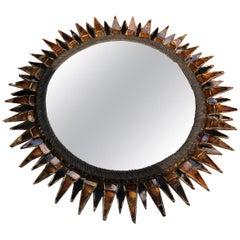"""Convex Mirror """"Soleil à Pointe N°3"""" in Talosel by Line Vautrin, circa 1950s"""