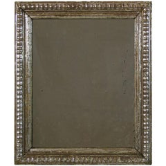 Late 18th Century French Carved and Silvered Mirror