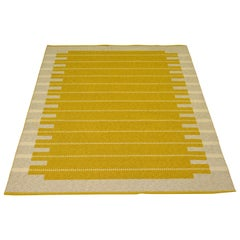 Reversible Vintage Swedish Handwoven Rug