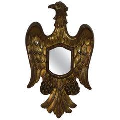 Small Italian, 19th Century, Neoclassical Eagle Mirror