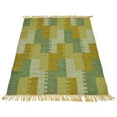 20th Century Swedish Röllakan Flat-Weave Carpet Signed UB