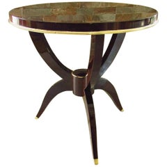 Leleu Attributed Art Deco Side Table, France, 1930